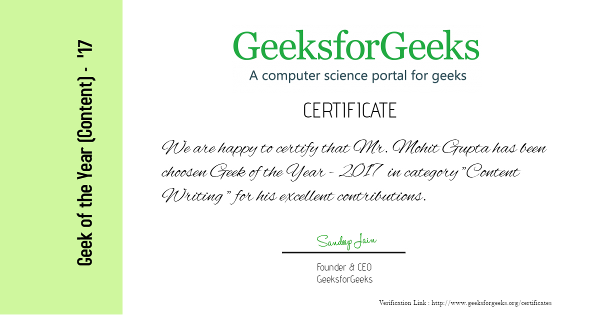 Python interview question geeks for geeks
