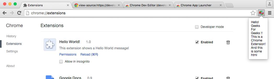 Building a Basic Chrome Extension - GeeksforGeeks