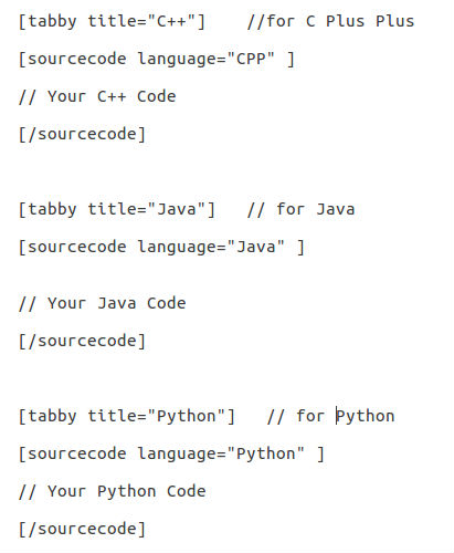 Guidelines for adding C/C++/Java/Python code to existing
